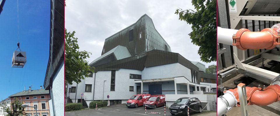 W.A. Schulte Austausch Kälteeinheit im Kulturhaus